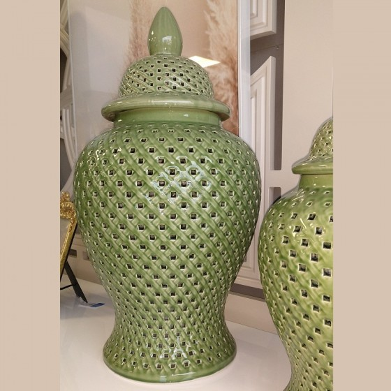 Pote Verde em Cerâmica Grande